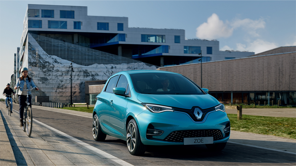 New Renault ZOE Driving range of up to 245 miles